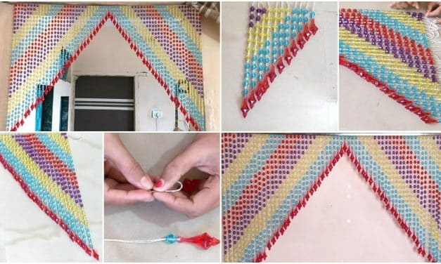 How to make very easy handmade door hanging toran