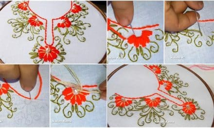 Hand embroidery neck designs for kurti