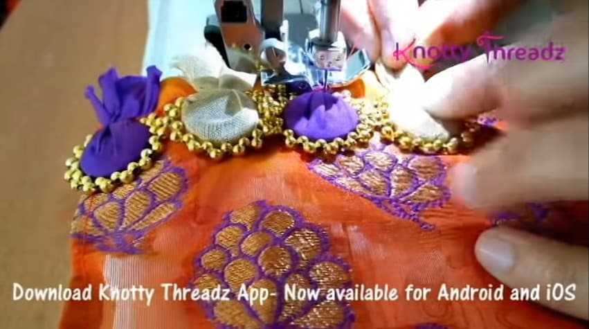 beaded saree edging