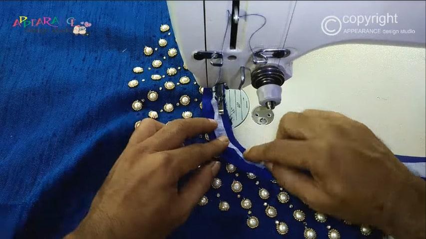 bead work embroidery neckline