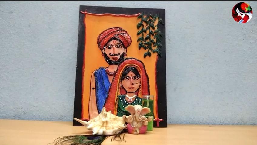 Rajasthani Tribal Mural Painting