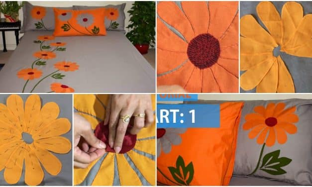 Handmade bed sheet and pillow covers