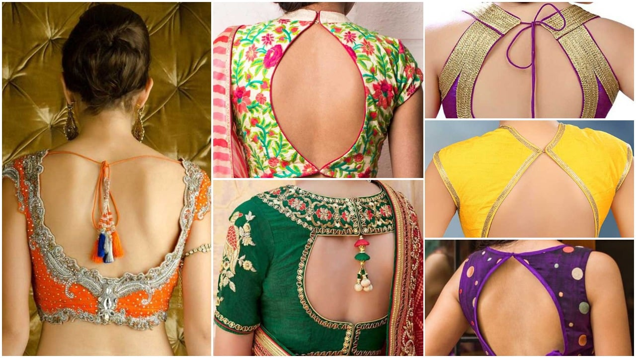Stylish Back Hook Designs For Your Saree Blouses Simple