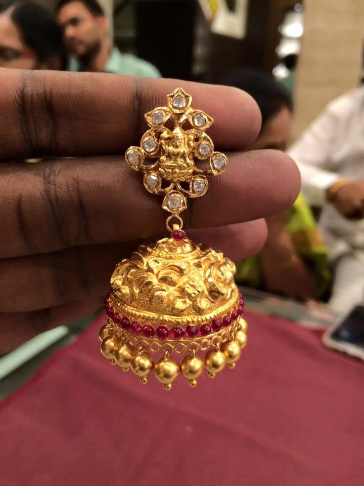 temple jewellery jhumkas