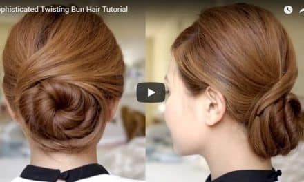 Twisting bun hair tutorial