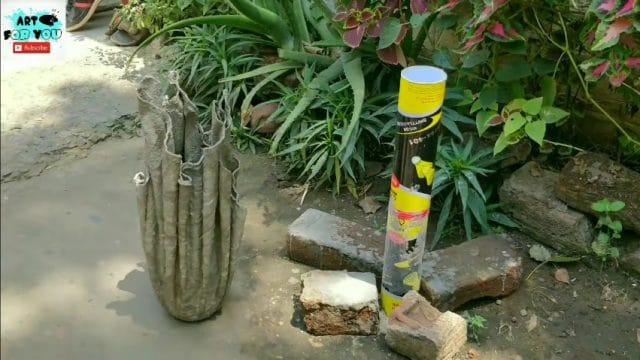 cement flowerpot