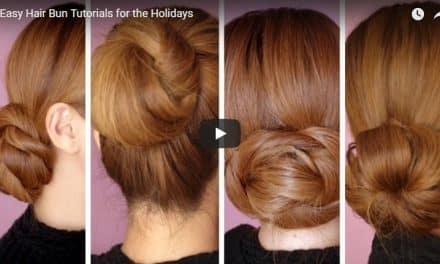 4 Easy hair bun tutorials for the holidays