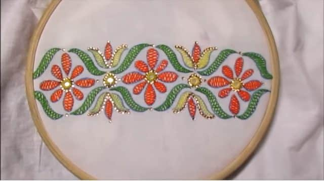 How to sew hand embroidery herringbone stitch - Simple Craft Ideas