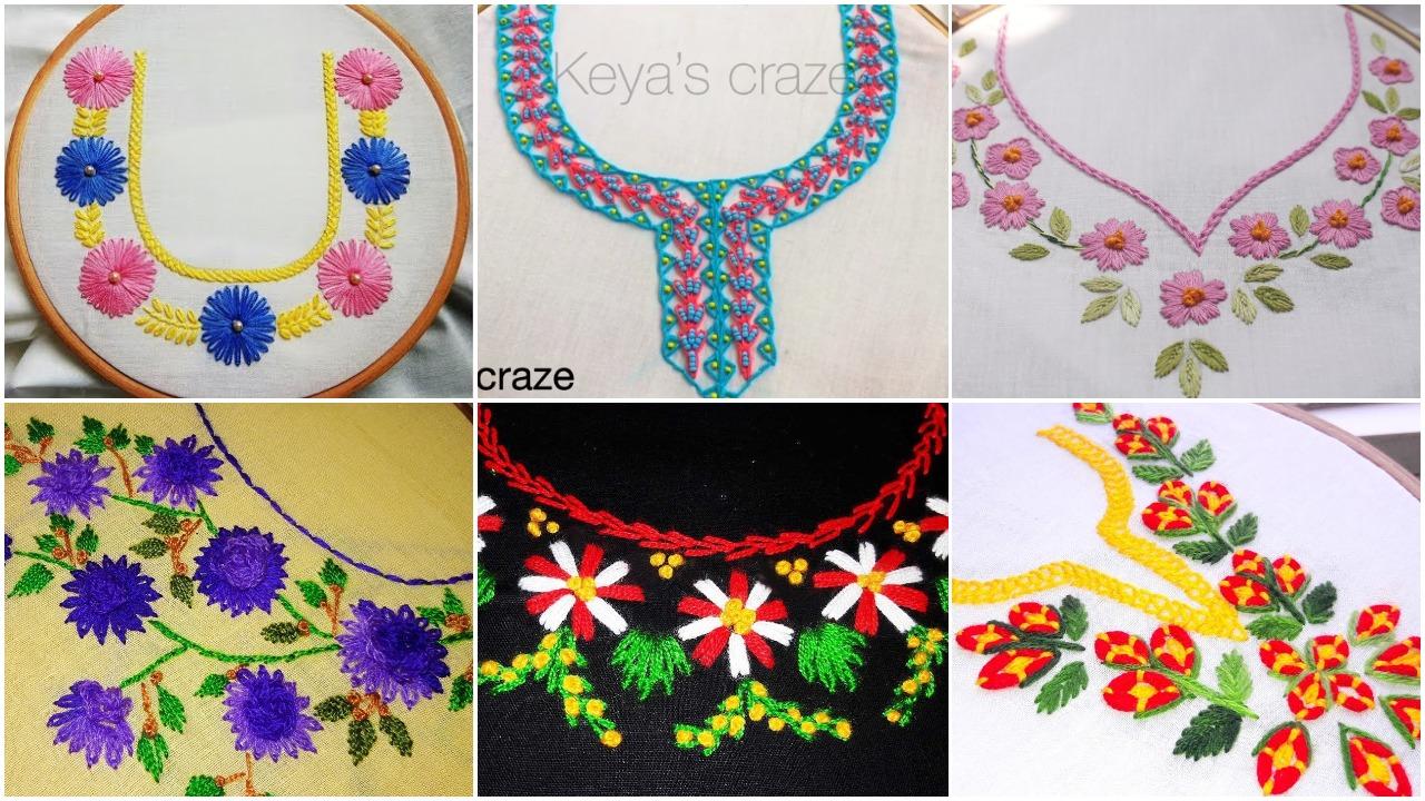 embroidery neckline