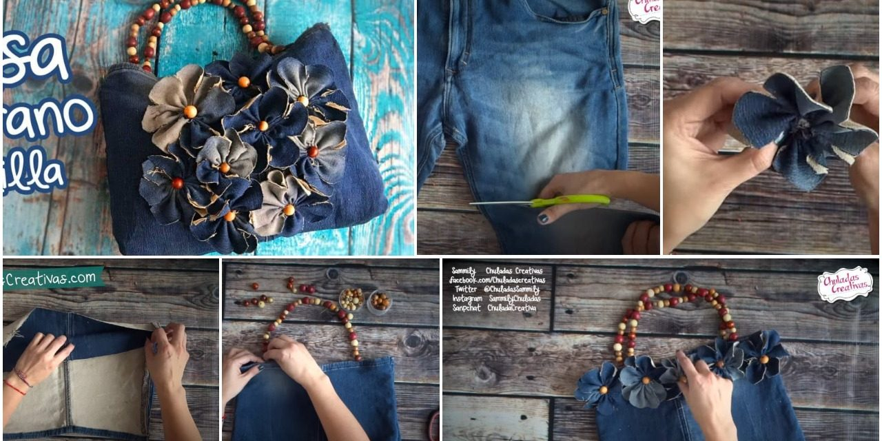 How to make summer bag with denim