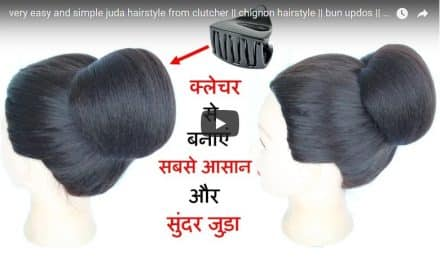 Very easy and simple bun hairstyle from clutcher