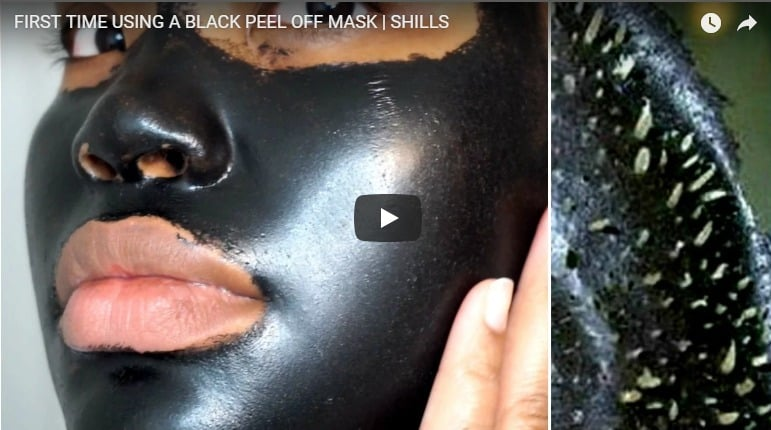 First time using a black peel of mask
