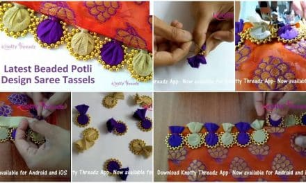 How to make beaded saree edging