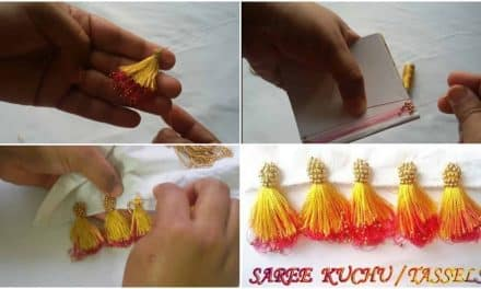 New double colour saree kuchu