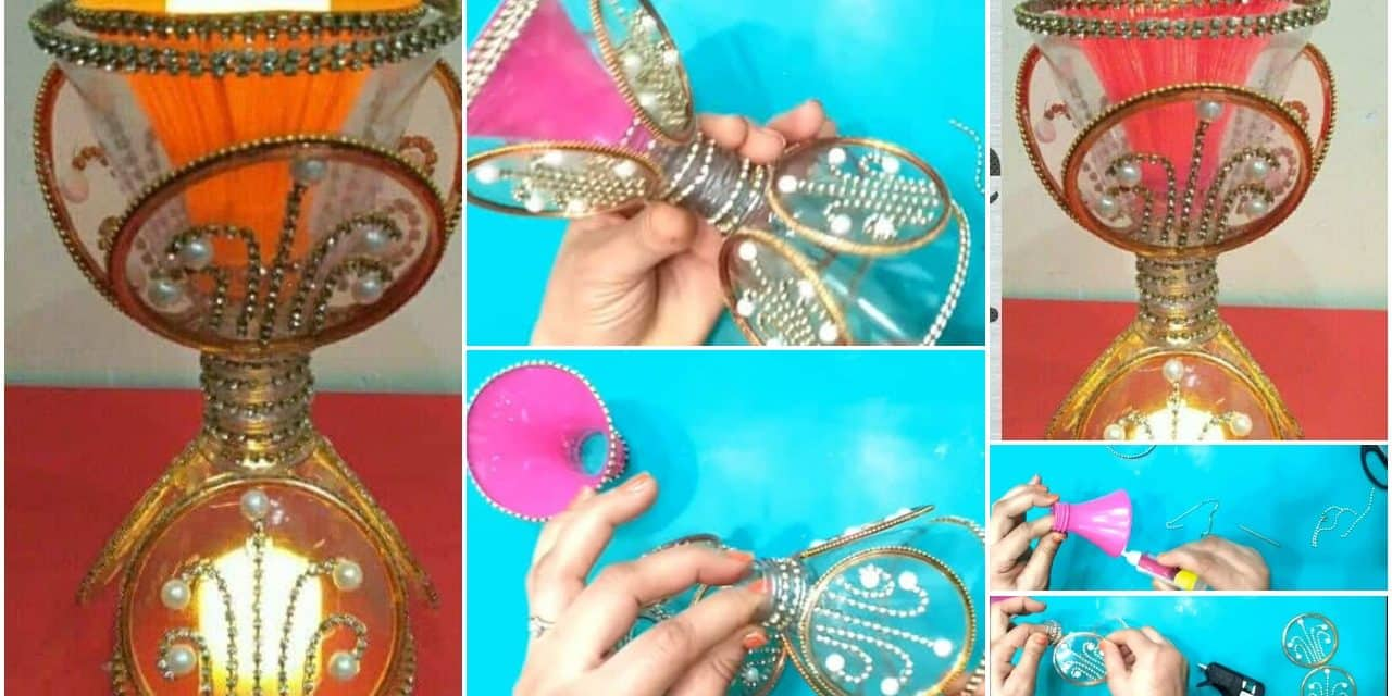 How to make a candle holder from plastic bottle