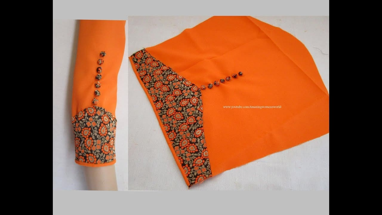 95e3cc90d2d1c Very beautiful and stylish sleeves design - Simple Craft Ideas
