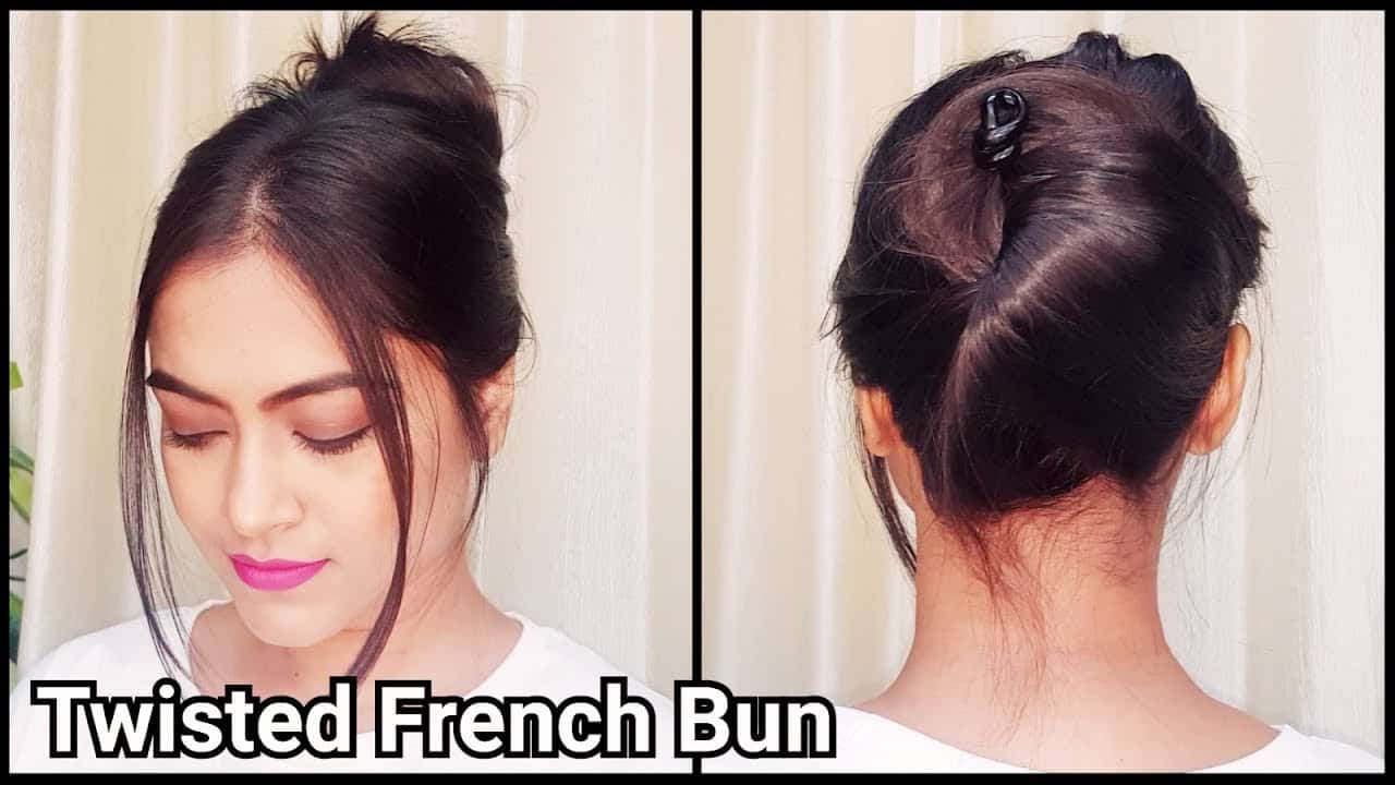 how to make french bun with long hair