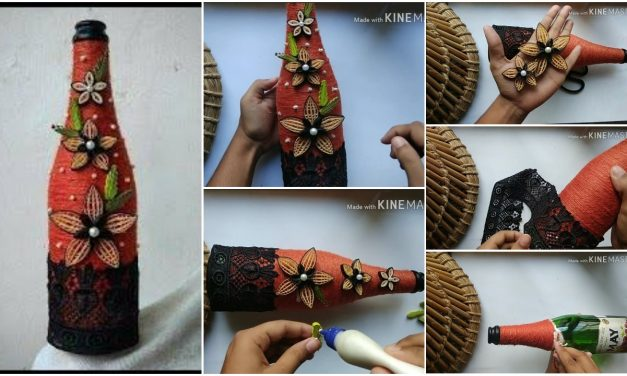 How to do glass bottle decoration