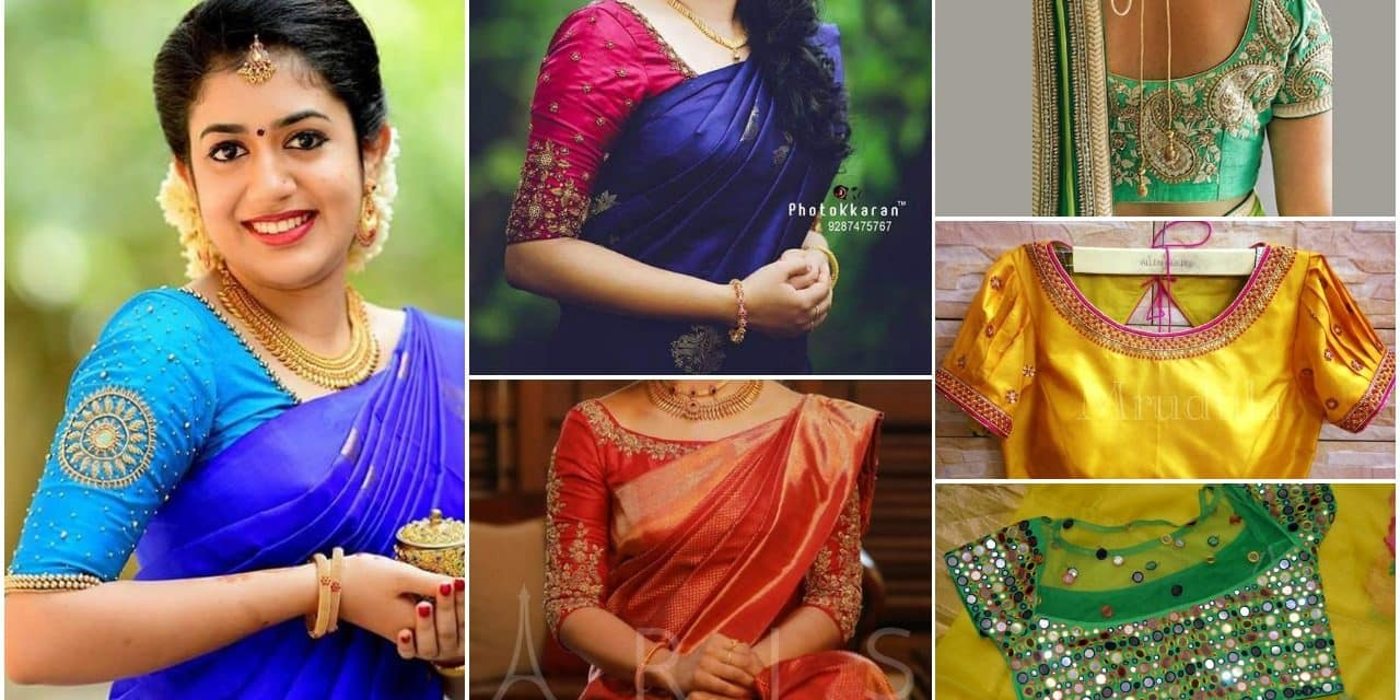 Buy Blouses Designer for silk sarees picture trends