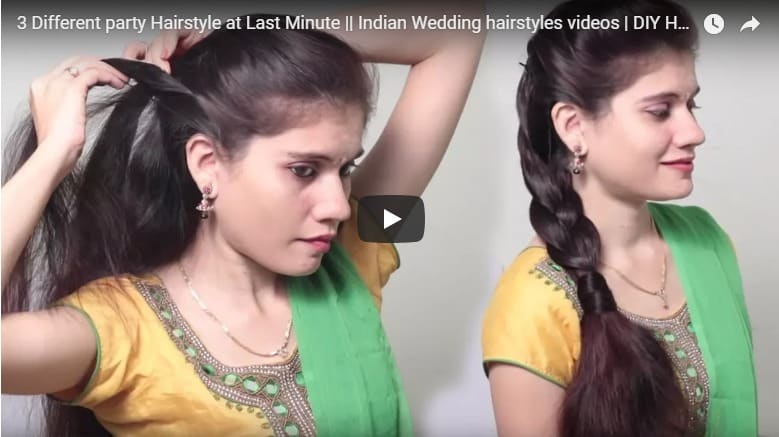 Different Party Hairstyle At Last Minute Simple Craft Ideas