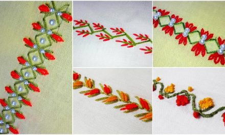 Hand embroidery border design