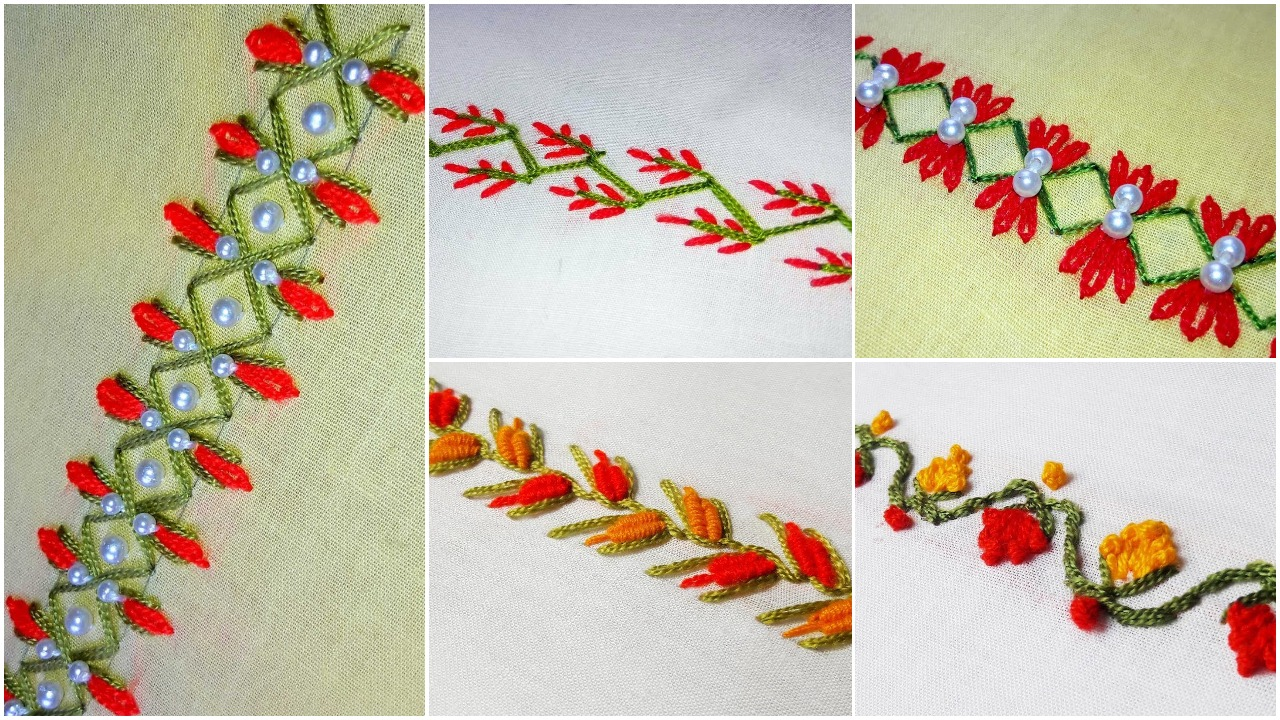 Hand embroidery border design – Simple Craft Ideas