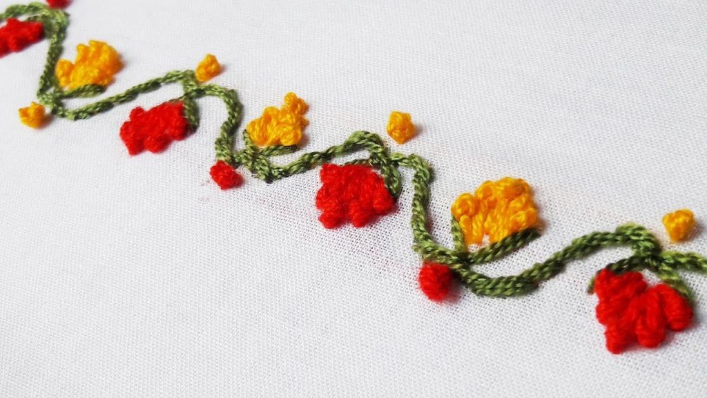 Hand Embroidery Border Design Simple Craft Ideas