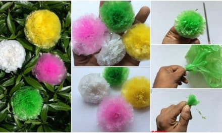 How to make a flower from plastic cover