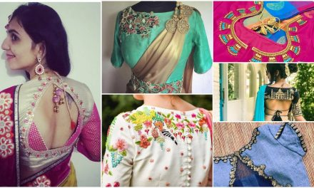 Fancy designer blouse for party wear sarees