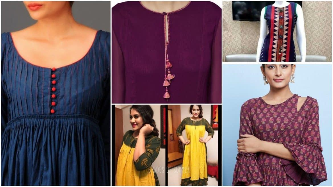 Neckline designs suitable for salwar suits and kurtis