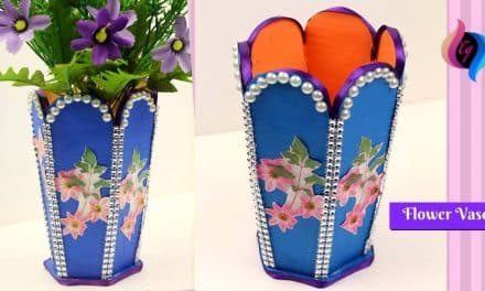 How to make best out of waste flower vase