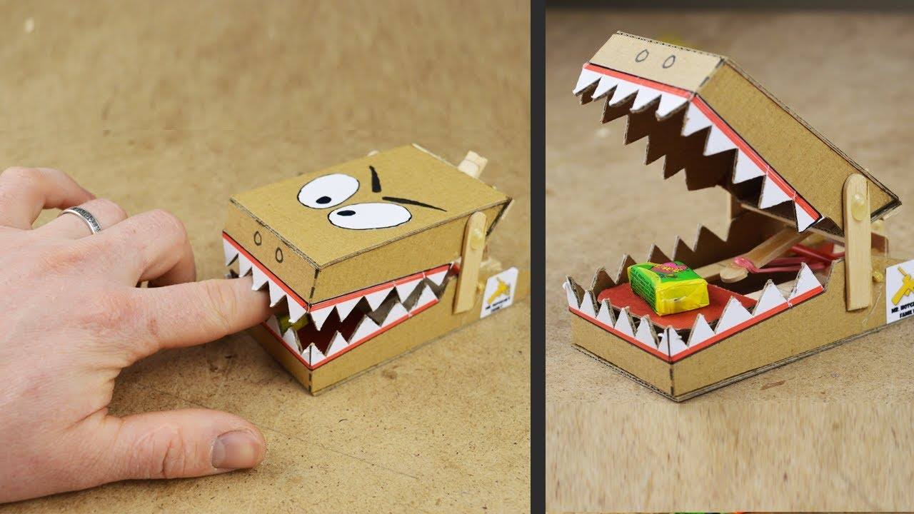 How to make simple rat trap from cardboard