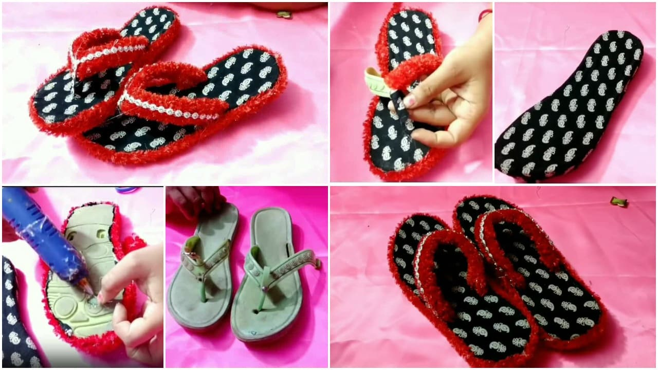 How to decorate waste slipper