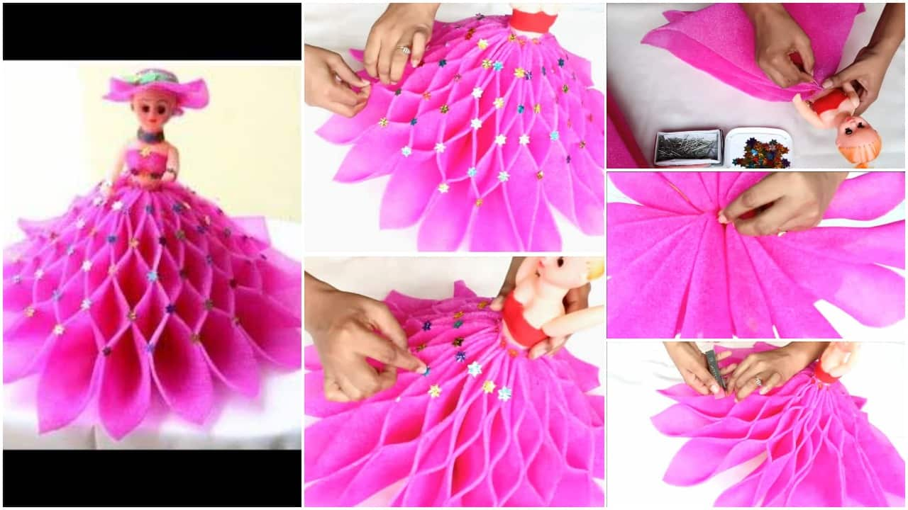How To Decorate A Doll From Foam Sheet Simple Craft Ideas