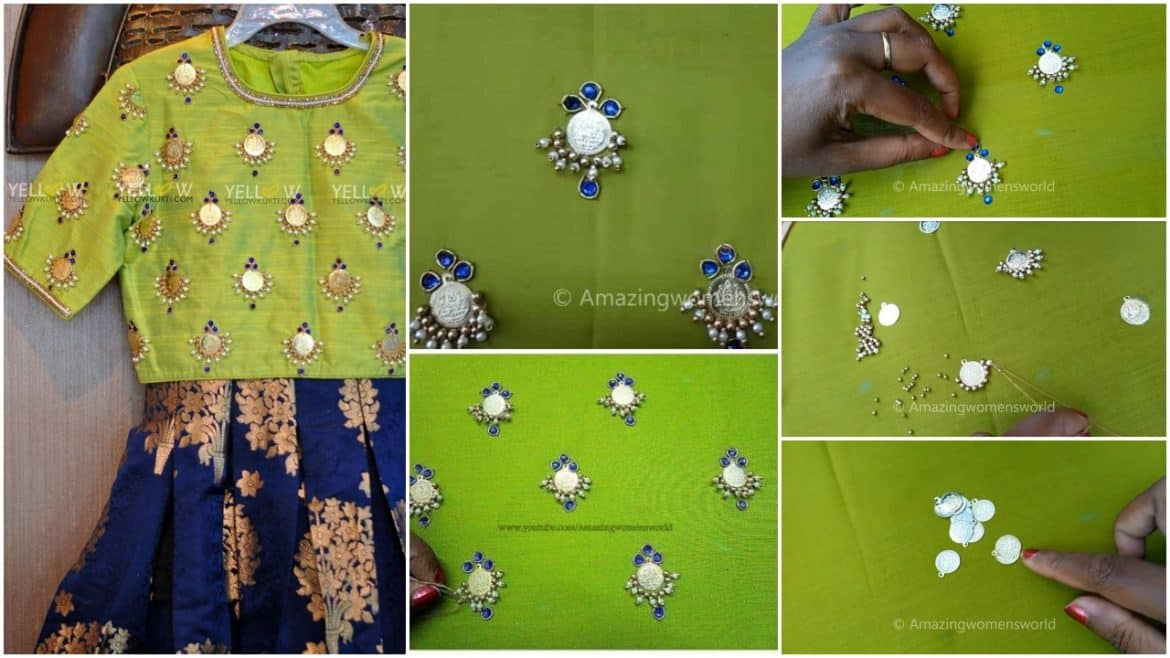 How to do kasu work for kurti