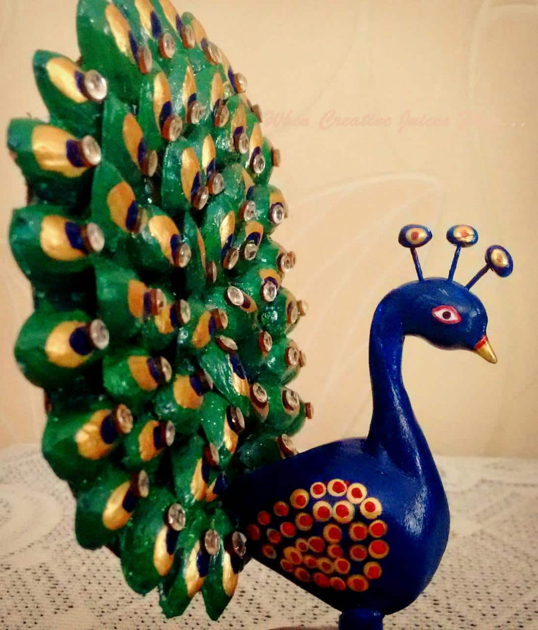 How To Make Dancing Peacock From Pista Shell Simple