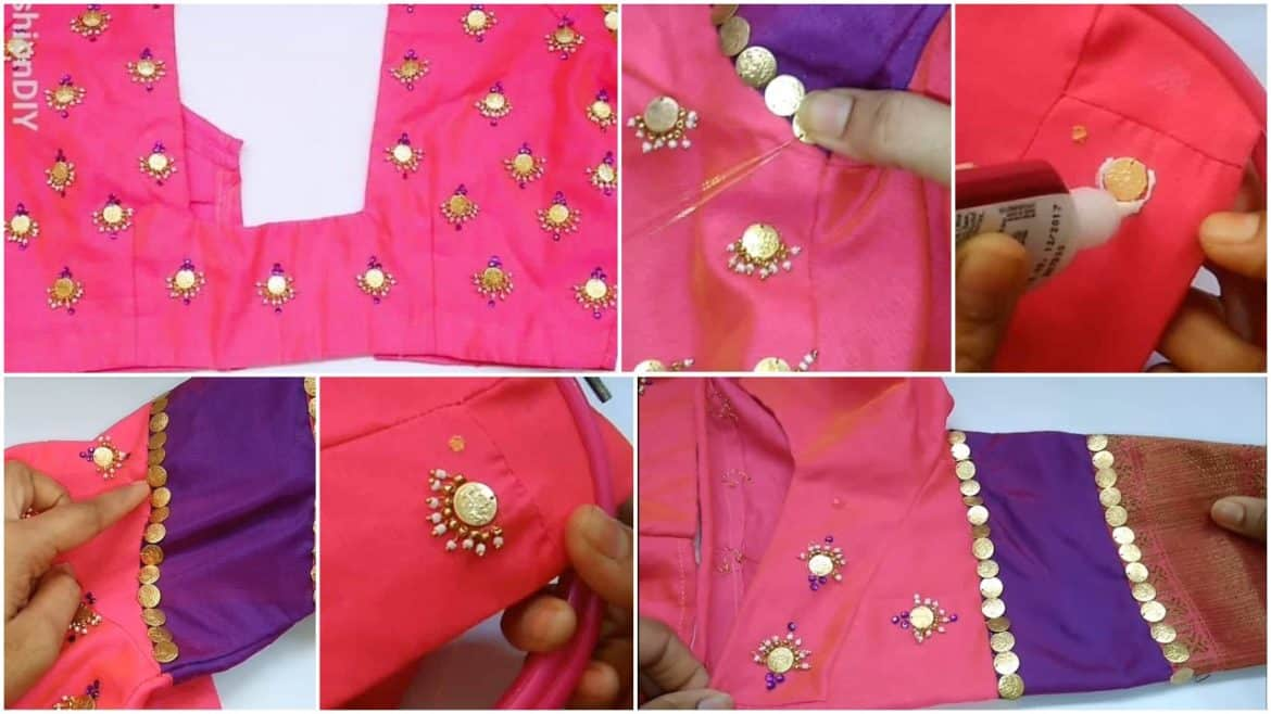 chandbali model on blouse