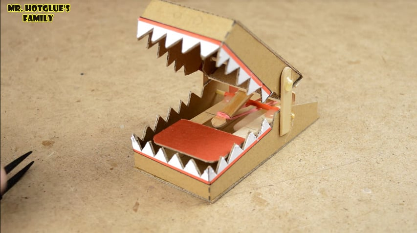 How To Make Simple Rat Trap From Cardboard Simple Craft Ideas
