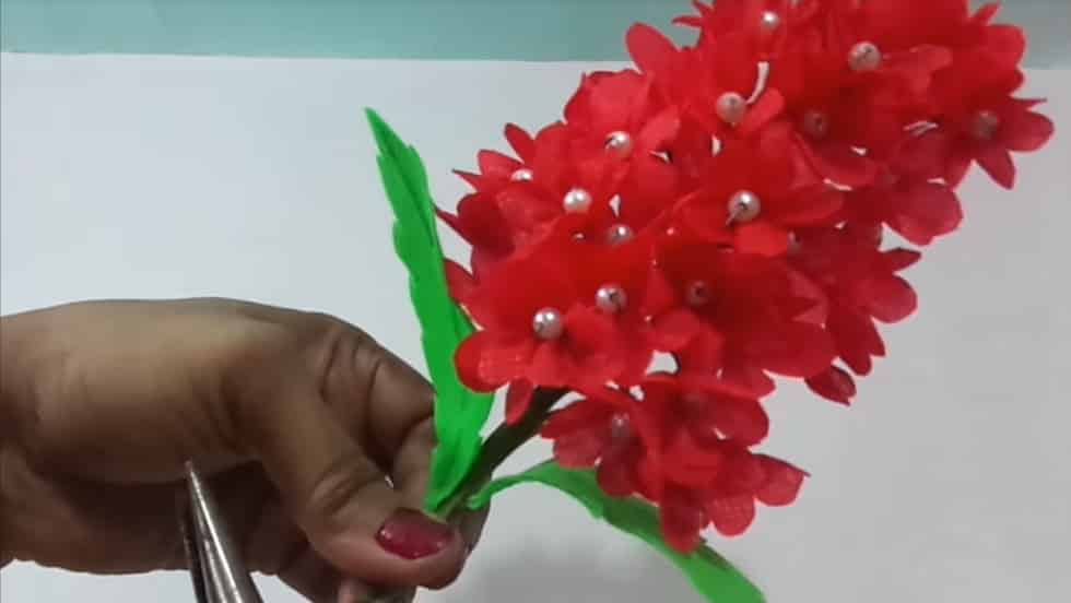 red flower bunches