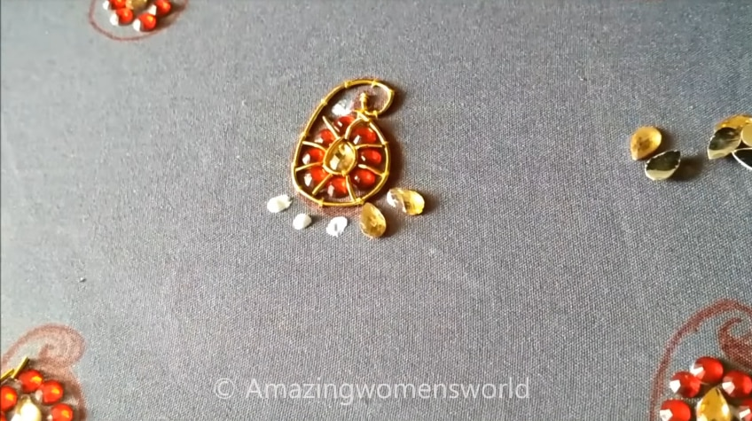 kundan work for blouses