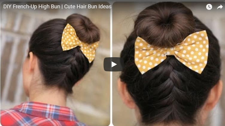 How to do french-up high bun