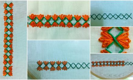 Border hand embroidery designs for beginners