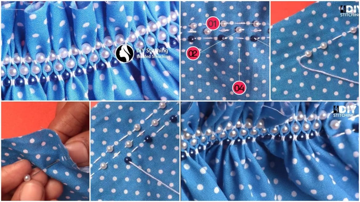 How to do beaded smocking