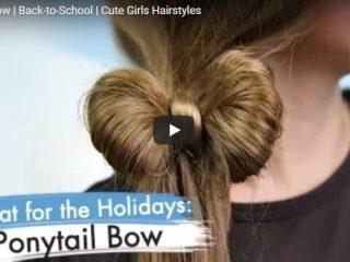 ponytail bow