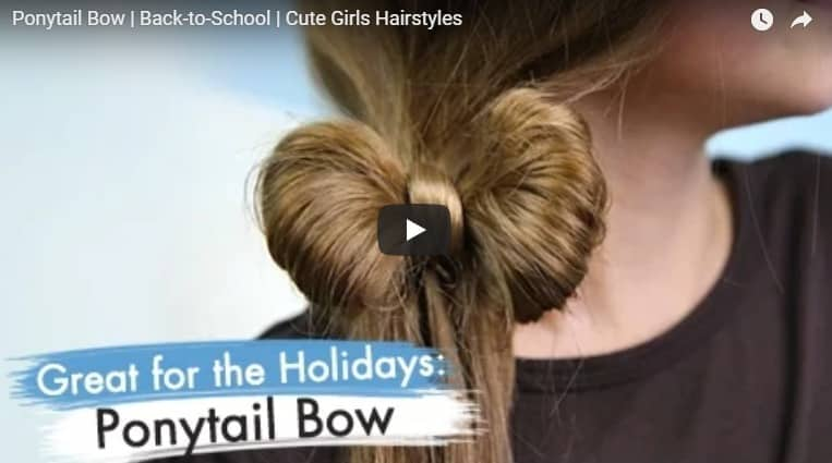How to do ponytail bow