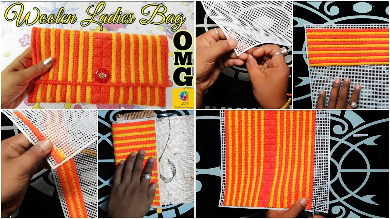How to make a woolen ladies hand bag