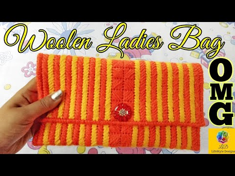 woolen ladies hand bag