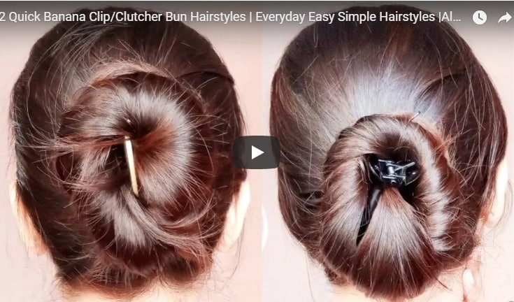 Everyday easy simple hairstyles with  banana clip