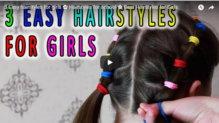 3 Easy Hairstyles For Girls Simple Craft Ideas