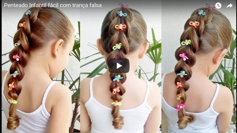 Easy children's hairstyle with fake braid